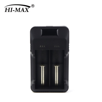 2-bay battery charger with LED