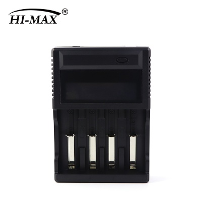 4-Bay Battery Charger With LCD Display
