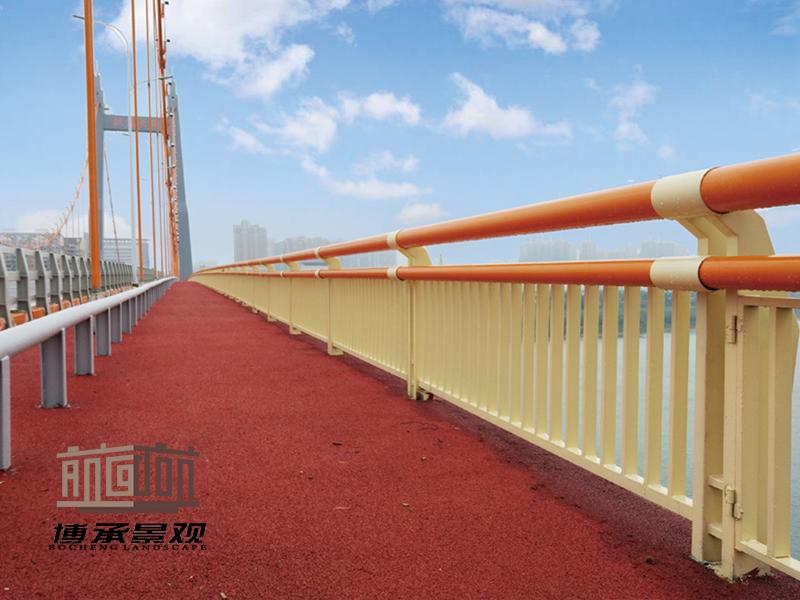湖南株洲枫溪大桥 人行护栏+非机动护栏工程