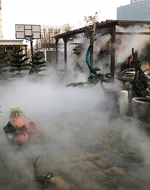 汉中市中心街空中花园冷雾项目