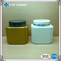 1000ml 32oz Square Plastic Storage Jars