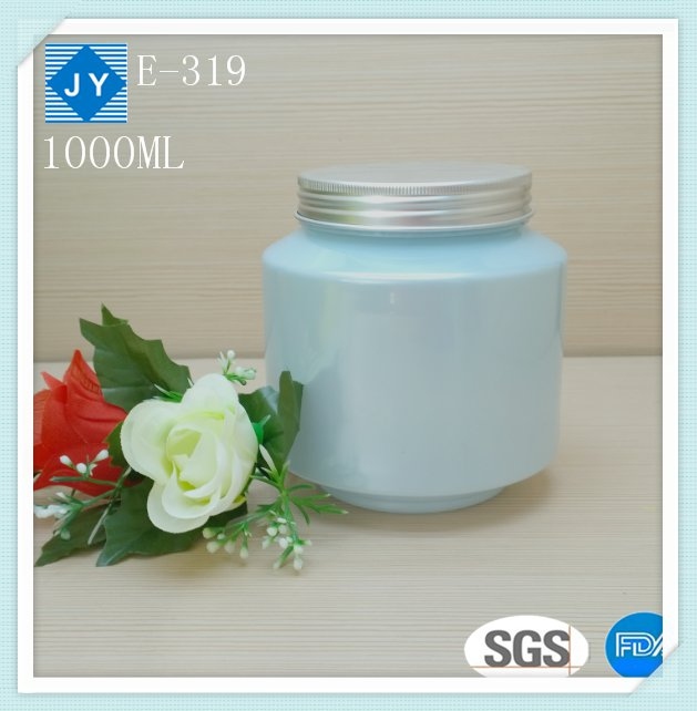 1000ml 32oz round pet plastic jar