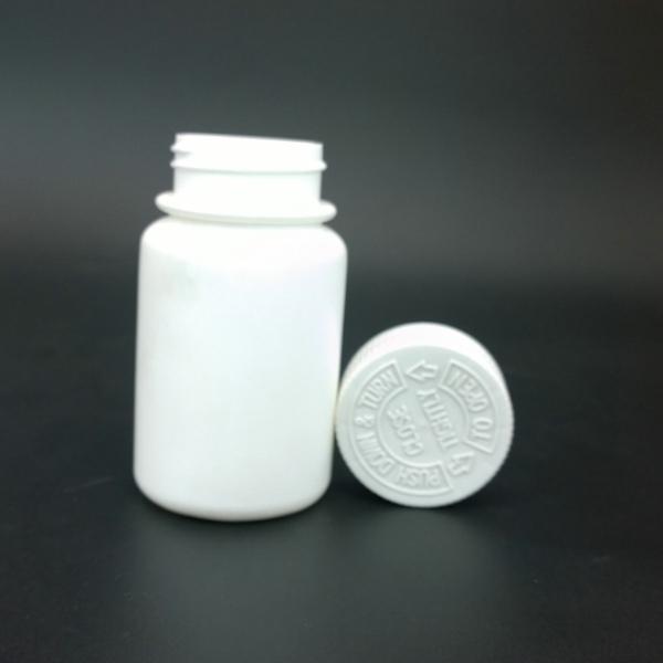 150ml plastic time capsule container,PET medical pills bottle with CRC cap