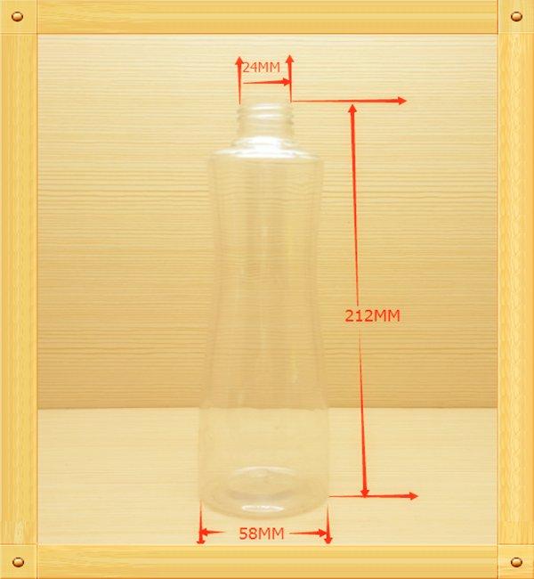300ml 10oz pet custom color cylinder plastic bottles