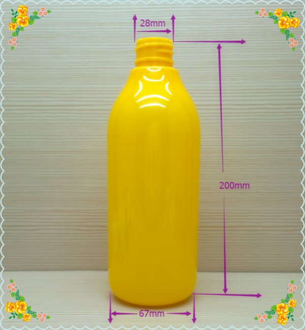 480ml 16oz colorful round plastic bottle