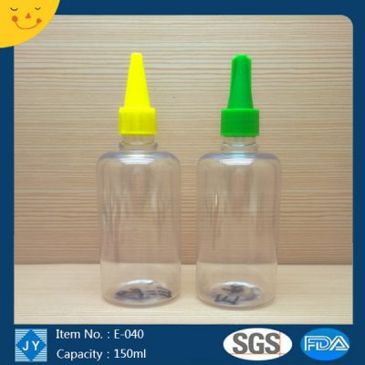 150ml 5oz small round plastic bottle