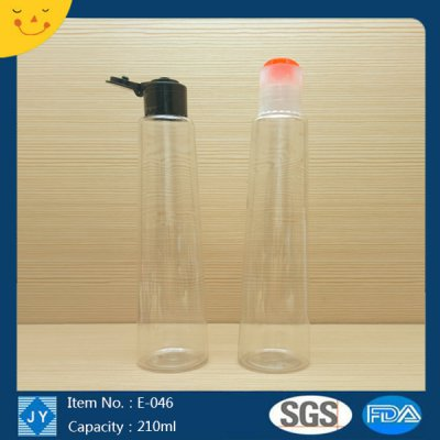 210ml 7oz small round cylinder plastic bottle