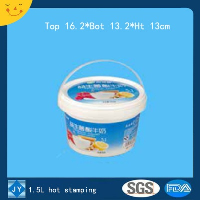 1.5L hot stamping plastic bucket