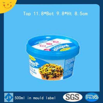 500ml in mould label plastic bucket