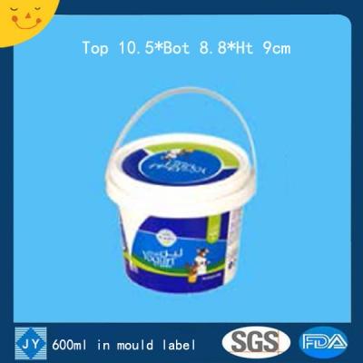 600ml in mould label plastic bucket