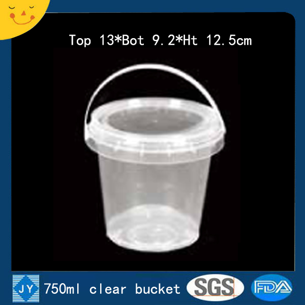 750ml clear plastic bucket