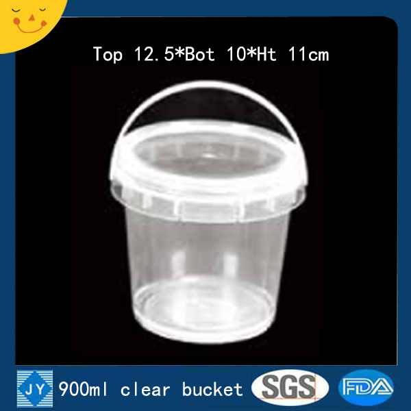 900ml clear plastic bucket