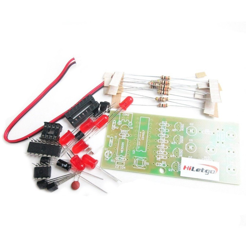 Electronic Dice KIT LED Interesting Parts Electronic Practice Suite DIY Study