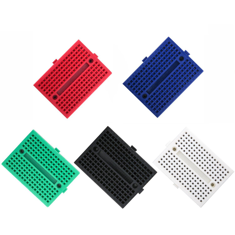 5PCS Mini SYB-170 Breadboard Colorful Breadboard Prototype Board Small Plates