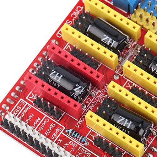 V3 Engraver Shield 3D Printer CNC Expansion Board A4988 Driver Board for Arduino