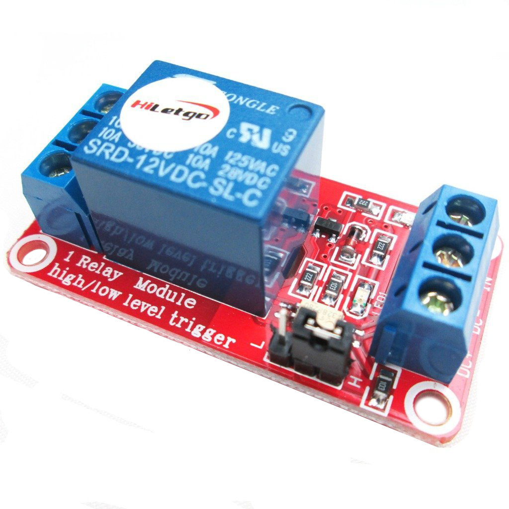 12V 1 Channel Relay Module With OPTO Isolation Support High or Low Level Trigger