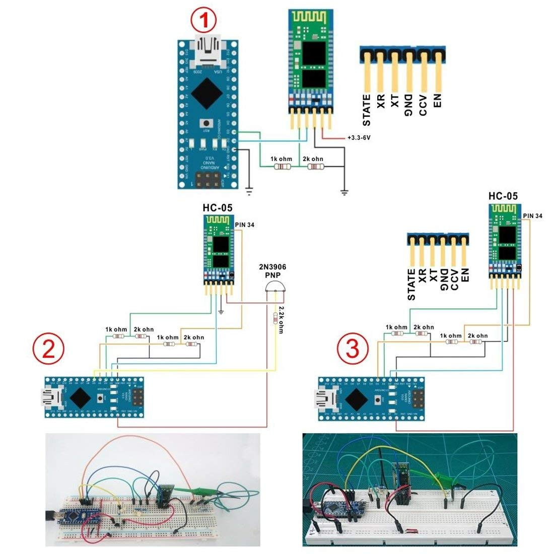 HC-05 6 Pin Wireless Bluetooth RF Transceiver Module Serial BT Module for Arduino