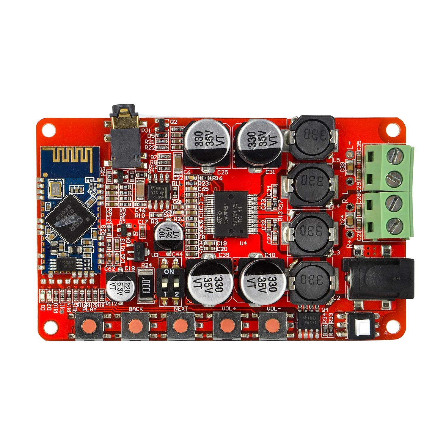 TDA7492P 50W+50W 250W Wireless Bluetooth CSR4.0 BT 4.0 Audio Receiver Digital Amplifier Board AMP