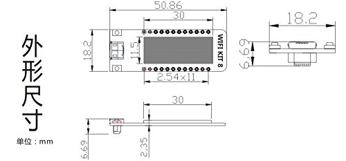 0.91 Inch ESP8266 OLED Display Dev Board WIFI Kit 8 CP2102 IOT Support Arduino IDE NodeMCU LUA