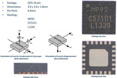 6 DOF MPU6500 6-Axis Gyroscope Acceleration Sensor Module SPI/IIC Replace MPU605