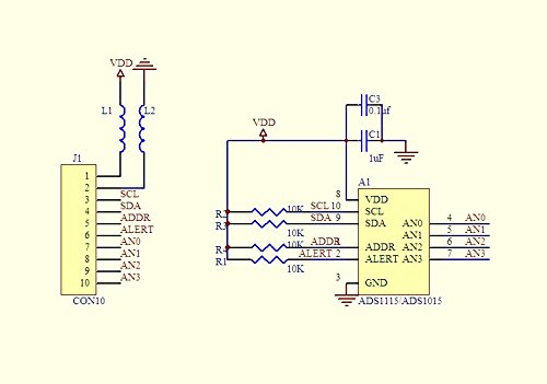 ADS1015 12 bit precision analog-to-digital converter ADC module development board