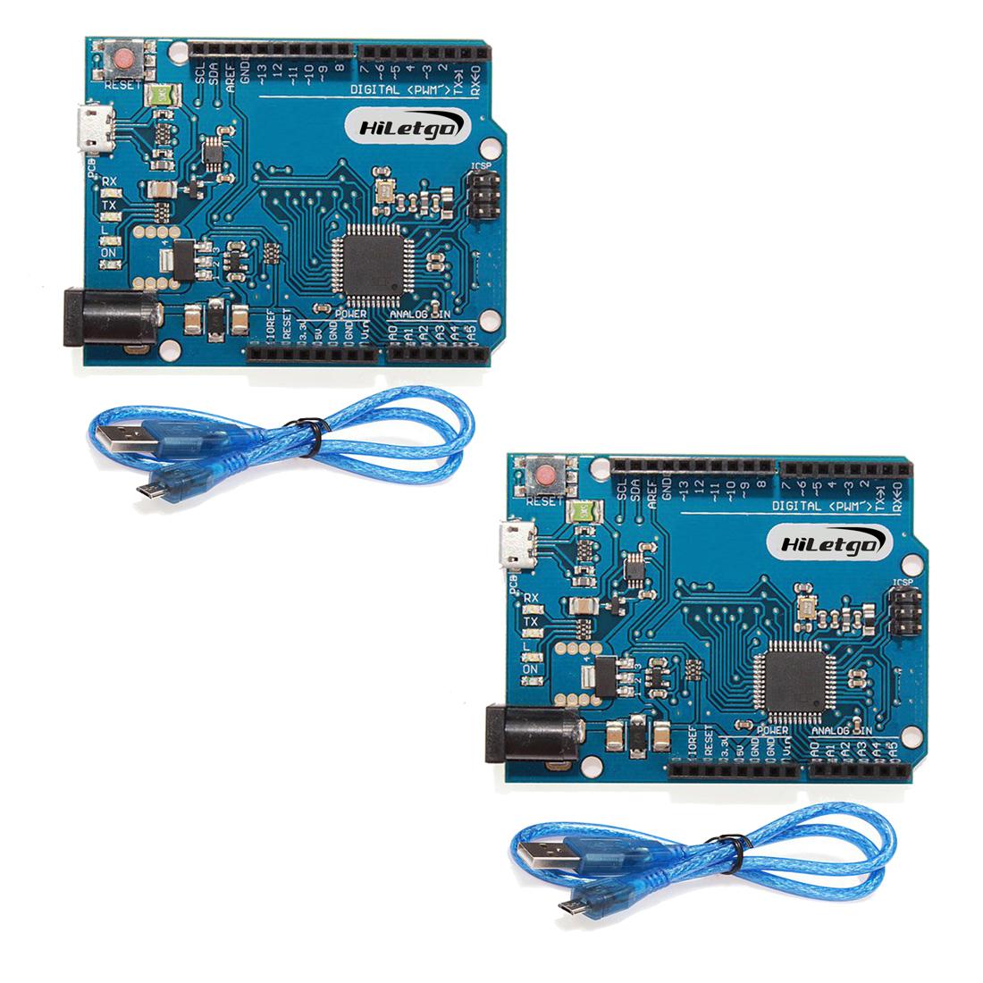 HiLetgo 2pcs Leonardo R3 Pro Micro ATmega32U4 Development Board With USB Cable