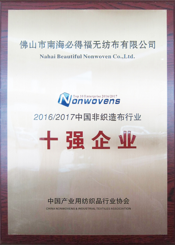 中國非織造布行業十強企業