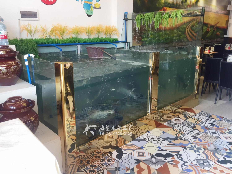 郴州餐厅饭店海鲜池水产缸定做 海鲨水族工厂制作