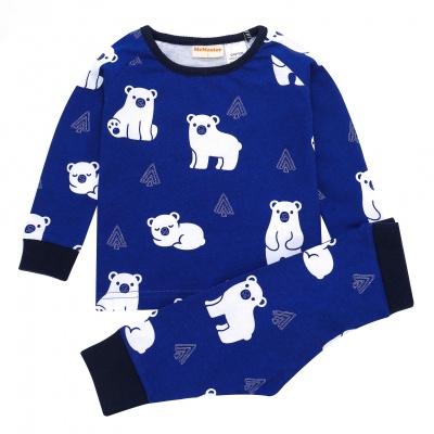 AW1913 Baby Boys Polar Bear Pyjama Set - Navy