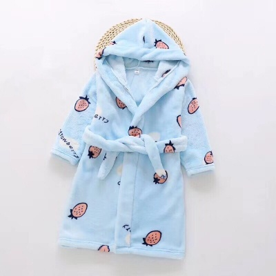 G02 Kids Strawberry Dressing Gown - Blue
