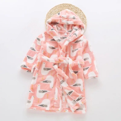 G03 Kids Bird Dressing Gown - Pink