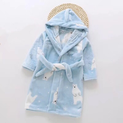 G04 Kids Polar Bear Dressing Gown - Blue