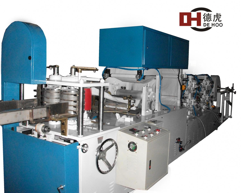 四色印刷压花方巾折叠机