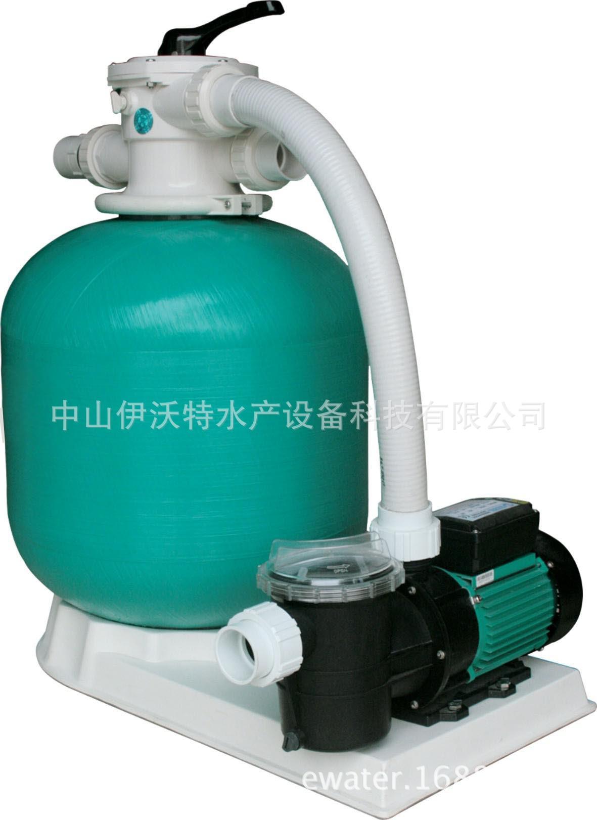 沙缸 便携一体式过滤器含水泵及底座