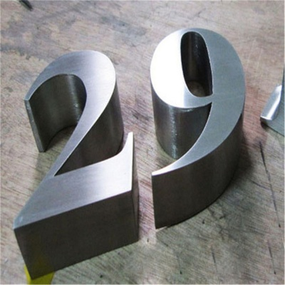 Stainless steel letters