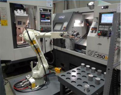 工业机器人加工中心上下料工作站