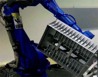 工业机器人金属表面磨抛工作站