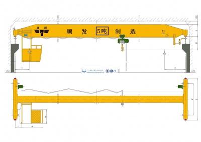 5吨/5t单梁桥式起重机(5吨天车、5吨行吊、5吨行车)