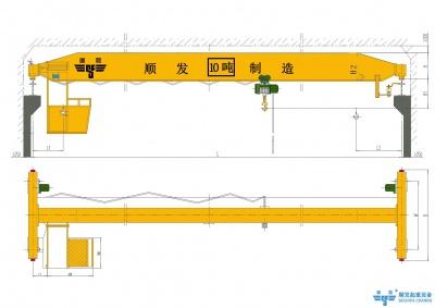 10吨/10t单梁桥式起重机(10吨天车、10吨行吊、10吨行车)