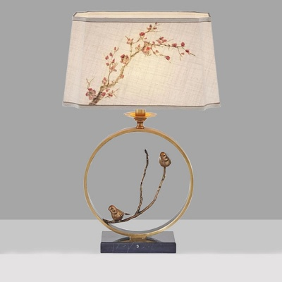 Chinese style antique marble base table lamp