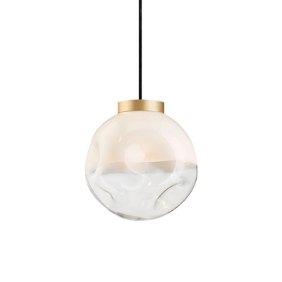 Modern Bubbles Chandelier Brass and Glass Ceiling lamp gold branch pendant light null