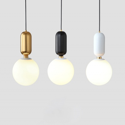 Modern round glass chandelier gold metal pendant lamp for home decoration
