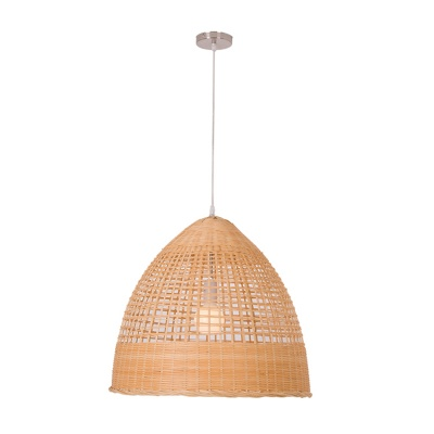 Round natural bamboo pendant lamp
