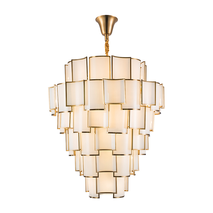Simple and modern Chinese parchment paper art absorbent ceiling lamp