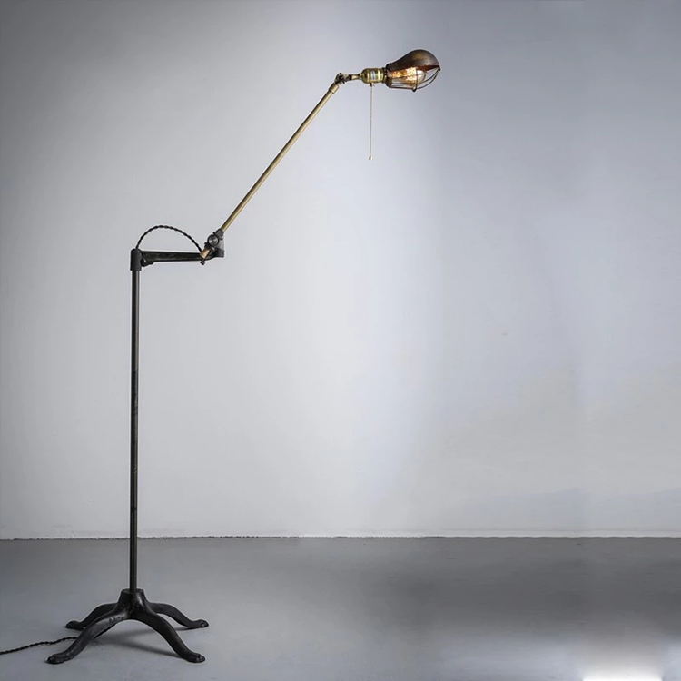 American style Industrial vintage umbrella shaped floor lamp for decoration lighting