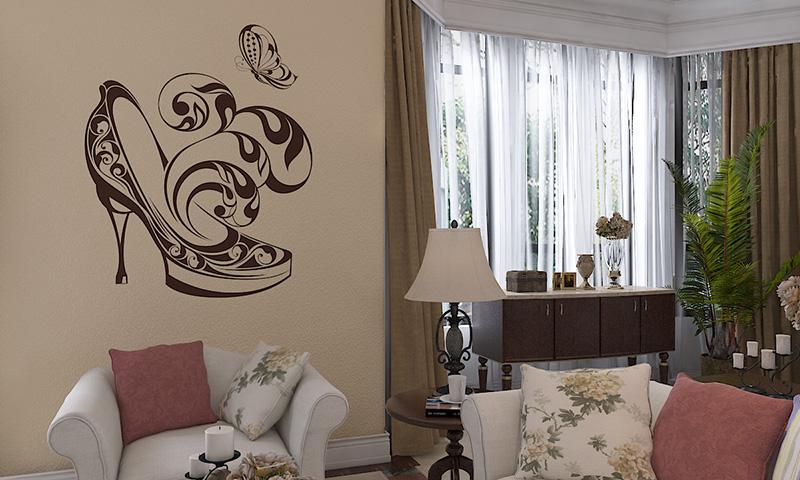 壳粉客厅墙面效果图