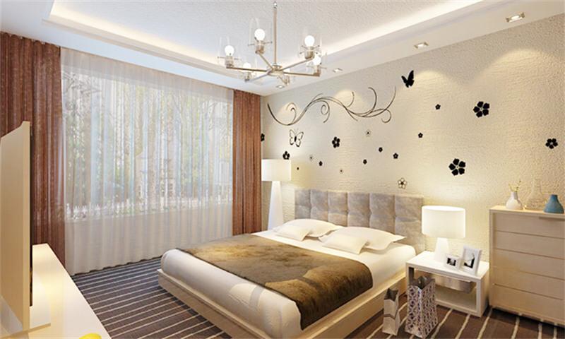 贝壳粉卧室背景图片