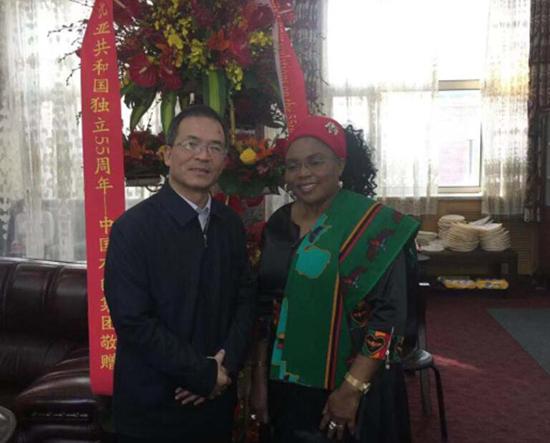 张晋军副总经理出席庆祝赞比亚共和...