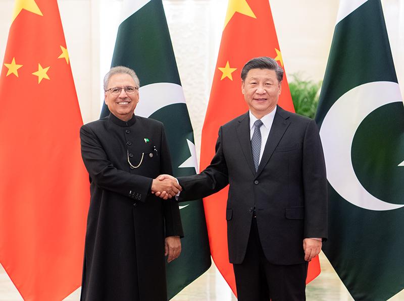 习大大同巴基斯坦总统阿尔维会谈