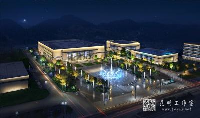 建筑照明设计鸟瞰图